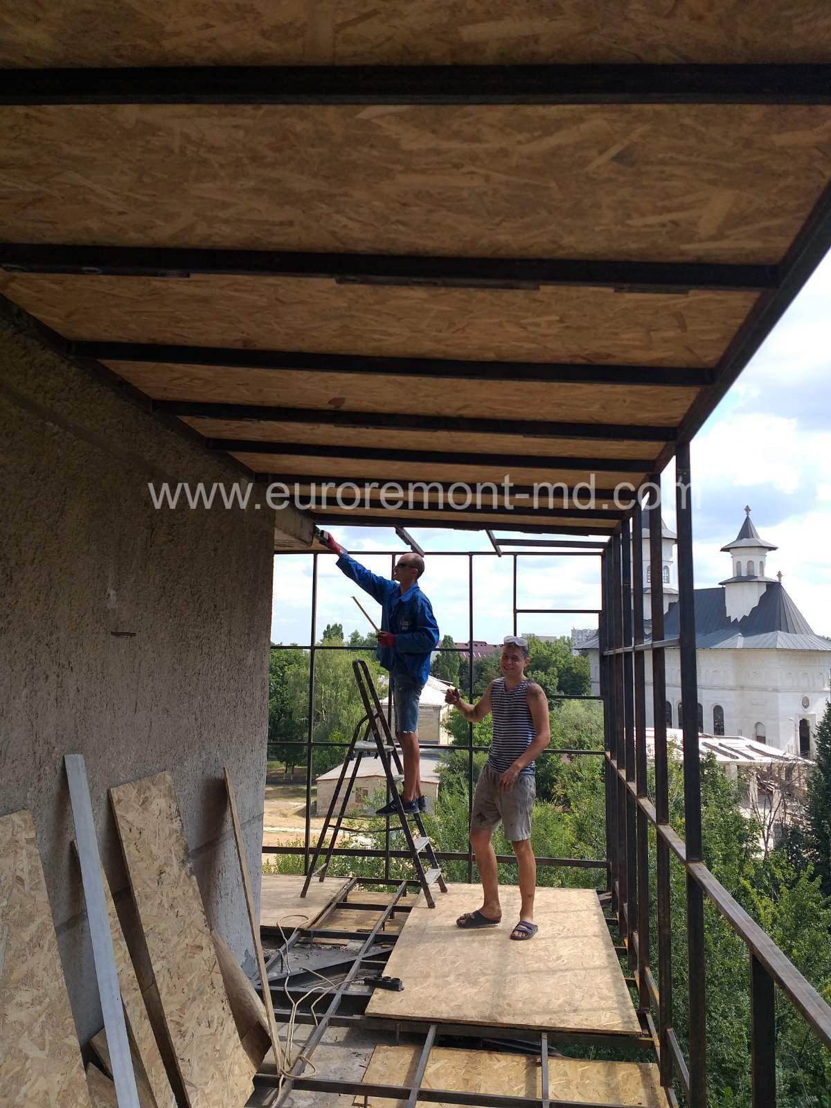 Ремонт балкона в Кишиневе Усиление